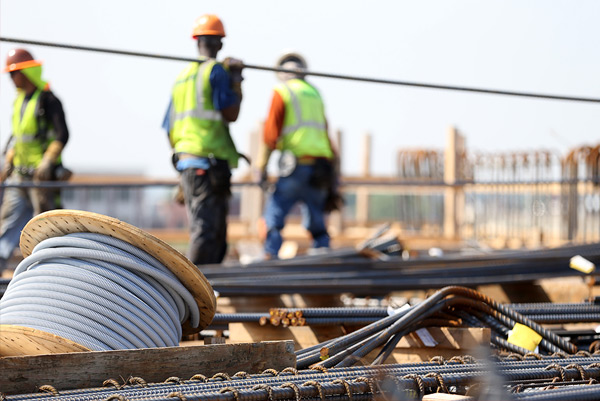 Online fire training for construction sites