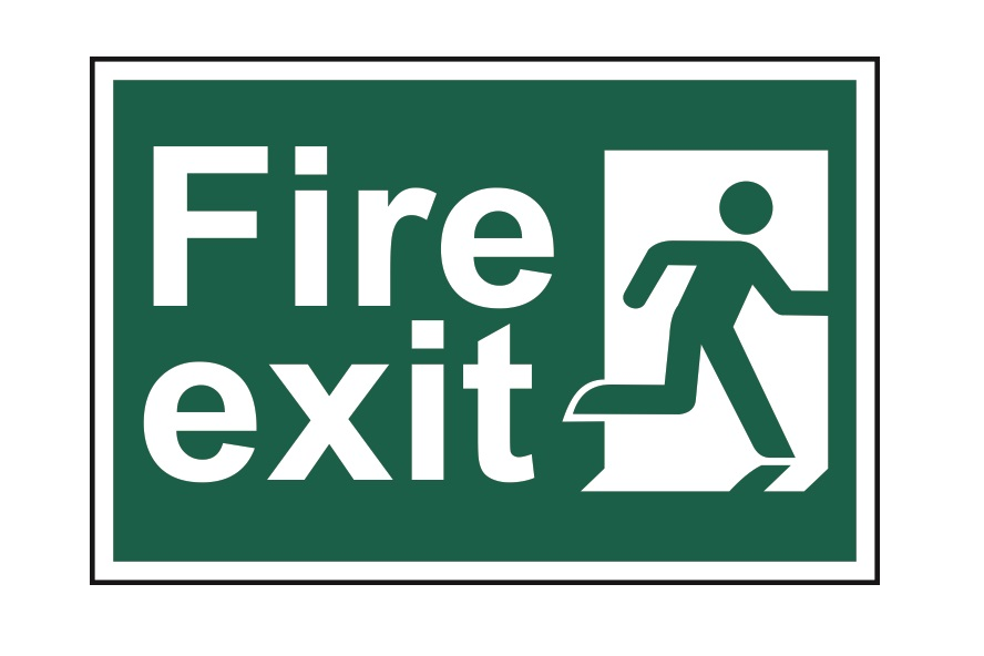 fire safety checks - exit signs