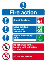 Fire safety checks - Fire action notices